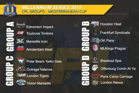 The draw for the Champions Paintball League in Puget 2015: