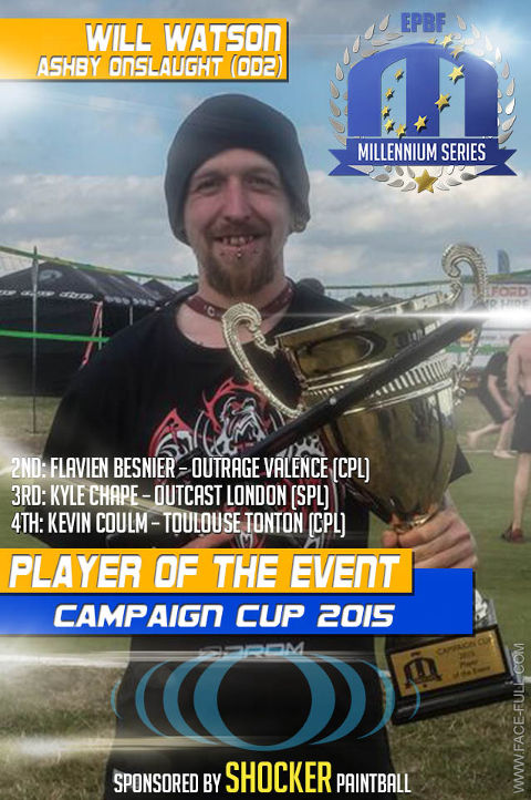 Player of the Event in Basildon at the Campaign Cup 2015