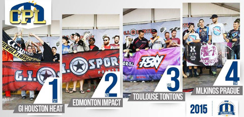 2015 Overall Divisional Podiums: Champions Paintball League