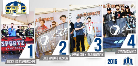 2015 Overall Divisional Podiums: Semiprofessional Paintball League 2