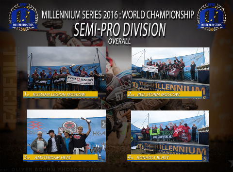 The Millennium Series 2016 Semi-Pro overall rankings: