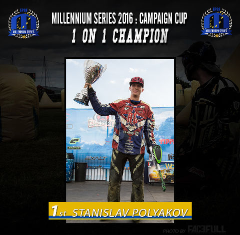 The 1on1 Champion of the Campaign Cup in Basildon 2016: Stanislav Polyakov, from the team Russian Legion Moscow
