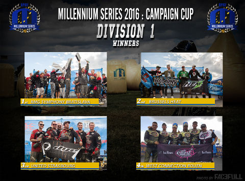 The winners of Division 1 at the Campaign Cup 2016, Basildon/United Kingdom