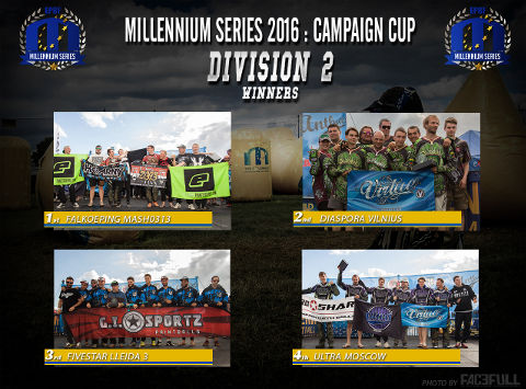 The winners of Division 2 at the Campaign Cup 2016, Basildon/United Kingdom