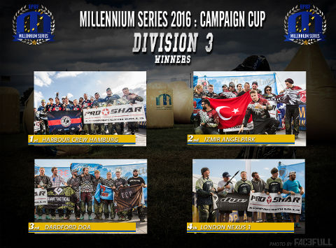 The winners of Division 3 at the Campaign Cup 2016, Basildon/United Kingdom