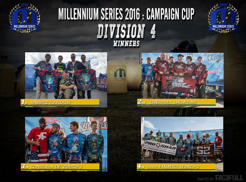 The winners of Division 4 at the Campaign Cup 2016, Basildon/United Kingdom