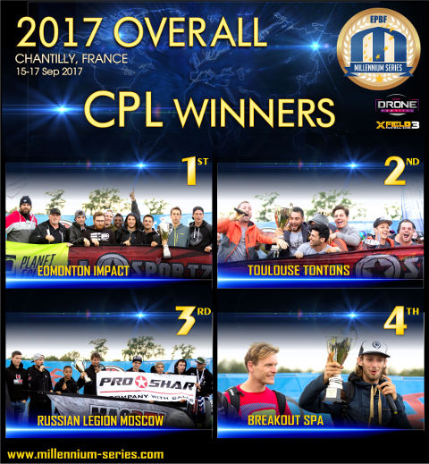 Millennium Series Overall Winners 2017 in Champions Paintball League