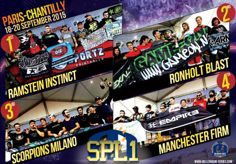 Podium Semiprofessional Paintball League 1 Chantilly 2015