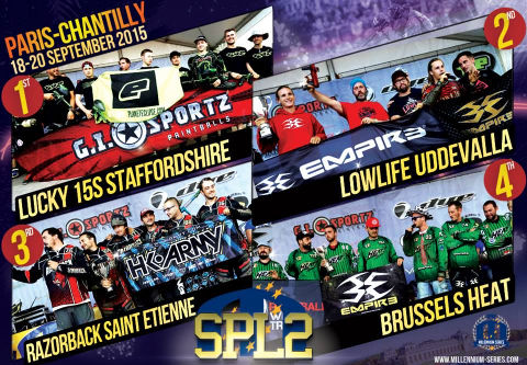 Podium Semiprofessional Paintball League 2 Chantilly 2015