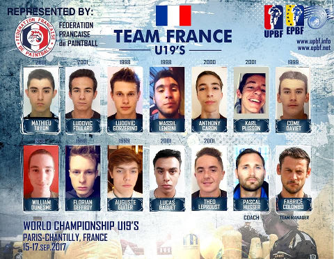 EPBF World Cup U19 2017 Team France