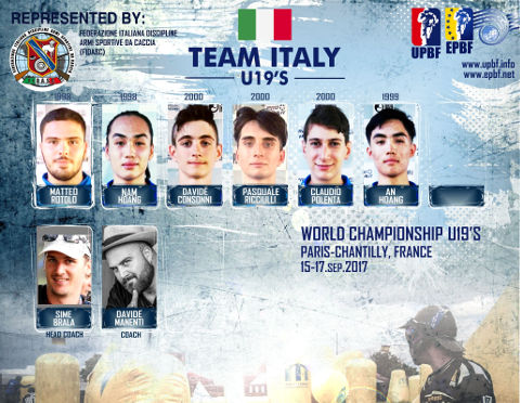 EPBF World Cup U19 2017 Team Italy