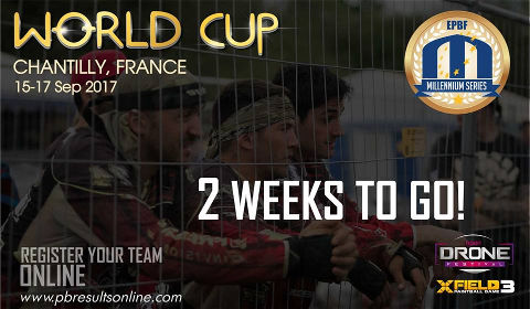 2 weeks to go for the Paintball World Cup 2017 in Paris-Chantilly