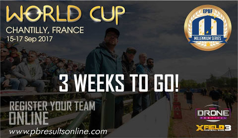 Only 3 weeks to go for the World Cup 2017 in Chantilly