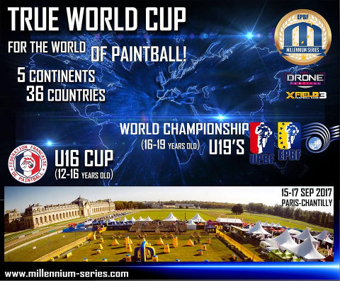 Paintball World Cup 2017 in Paris-Chantilly/France