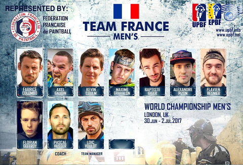 EPBF World Cup Men's 2017 Team France