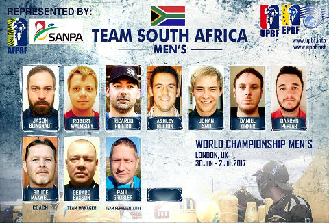 EPBF World Cup Men's 2017 Team South Africa