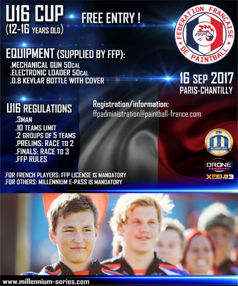 U16 tournament at the World Cup in Paris-Chantilly 2017