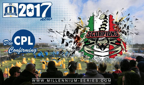 Team Scorpions Milano confirms their spot in CPL for 2017!