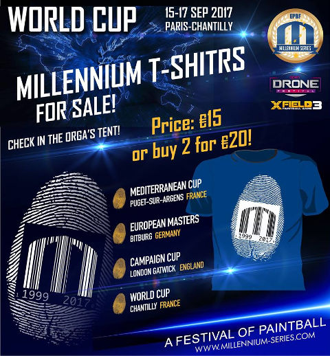Millennium Series 2017 T-Shirts Sale