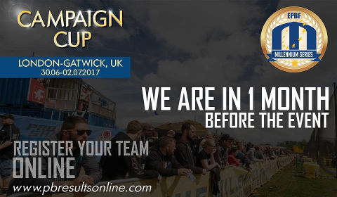 1 month to go for Campaign Cup in London-Gatwick