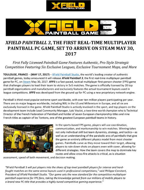 XField Paintball Game