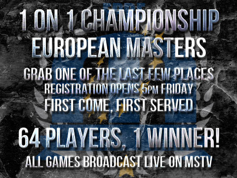 1 on 1 Championship at European Masters: don't miss it!