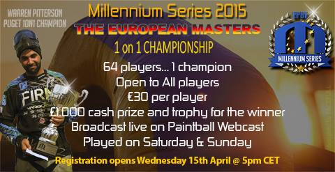 1 on 1 championship Bitburg registration to open Wednesday, the 15th of April