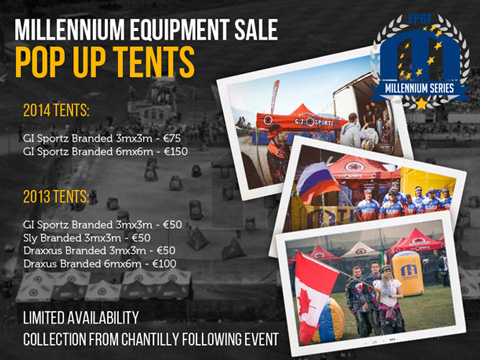 Millennium Equipment Sale - Tents