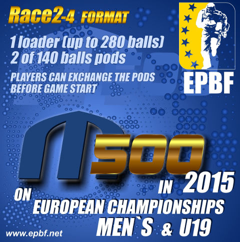 EPBF 2015 Men's and U19 in M500 format