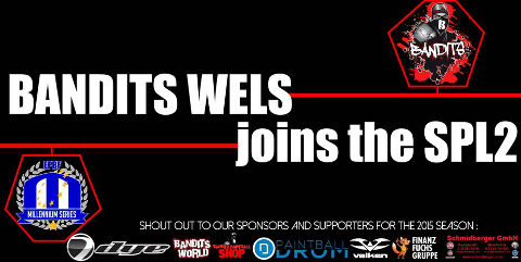 Bandits Wels to play Semiprofessional Paintball League 2 in 2015