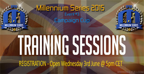 Training sessions registration opens Wednesday, 3rd of June 2015 at 5PM CET