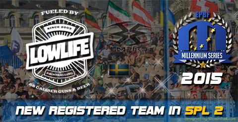 Playing Semiprofessional Paintball League 2015: Low Life Uddevalla