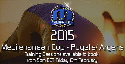 Training Sessions for Puget 2015 available to book from 5PM Friday, the 13th of February