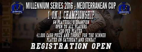 1on1 registration Med-Cup open, now!