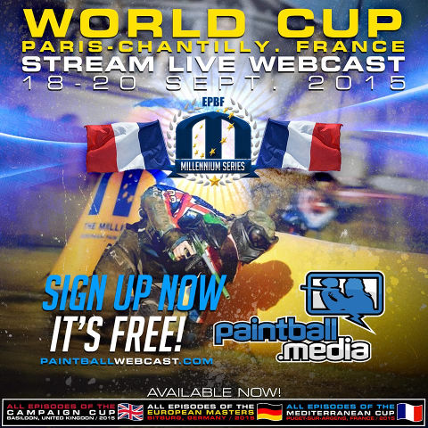 Streaming live for FREE at http://paintballwebcast.com