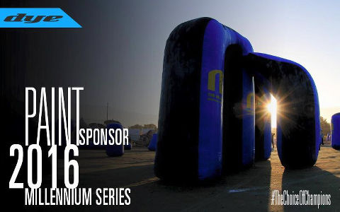 DYE Paintball back as a paint sponsor for the 2016 Millennium Series!