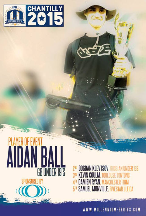 Congratulations Aidan Ball - Our 2015 Chantilly Player of the Event!