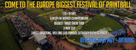 Come to the Europe biggest festival of Paintball